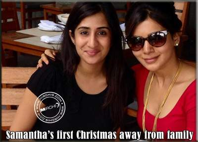 Samantha's first Christmas away from family