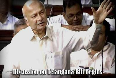 Discussion on Telangana Bill begins