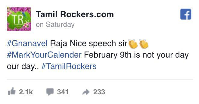 Tamil Rockers Live Streaming Threat To Singam 3
