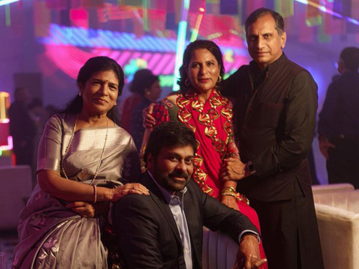 Chiranjeevi couple with Upasana Kamineni parents 1.